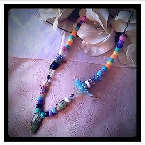 Vintage Colorful Fun Bead Necklace